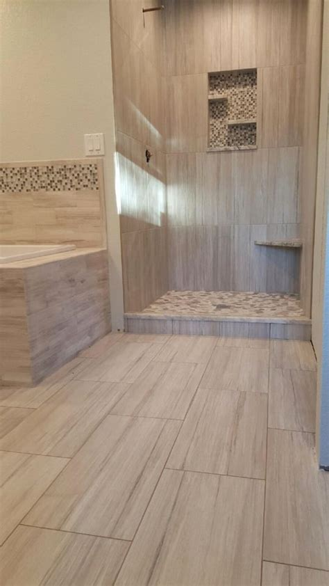 contemporary shower design  wall tile set vertical stacked complete   floating