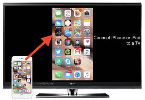cable to connect iphone to tv how to connect an iphone or to a tv