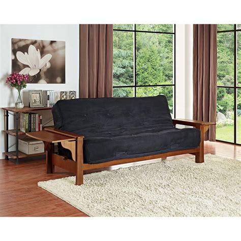 mission futon mainstays mission wood arm futon home decor