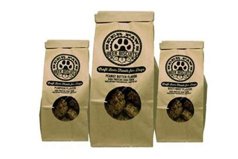 These delicious and healthy dog treats feature a satisfying crunch with a fun shape that dogs love. Mix-Pack of Beer Paws Dog Biscuits
