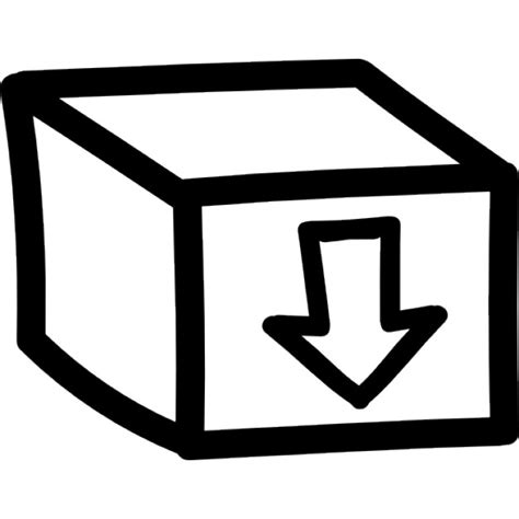 Nach Unten by Box Mit Einem Pfeil Nach Unten Zeigt Zeichen