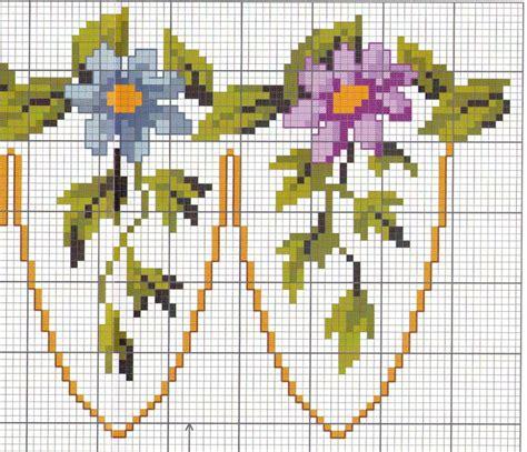 bordure fleur cadre toutes les grilles grilles gratuites point de croix crochet tricot