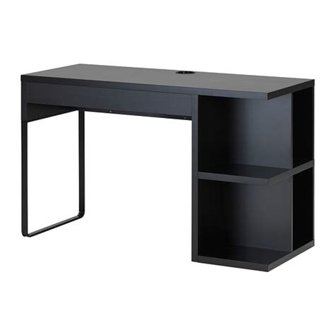 micke bureau micke desk with integrated storage black brown ikea