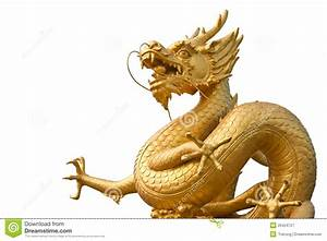Chinese Golden Dragon Statue Stock Image - Image: 20424727