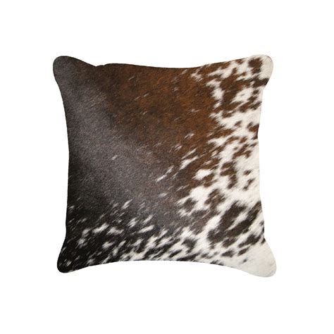 Torino Cowhide Pillow by Torino Cowhide Pillow Patterned 18 Quot Square Black