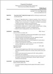 Objective In Resume Finance Exles by 100 Objective Financial Advisor Resume Objective