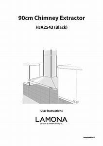 Lamona Black 90cm Chimney Extractor