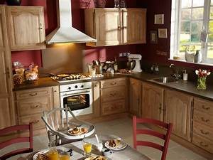 Deco cuisine chene massif for Deco cuisine pour meuble chene massif