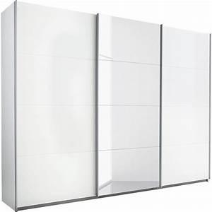 armoire dressing penderie 3 portes coulissantes avec 1 With porte de douche coulissante avec armoire penderie salle de bain