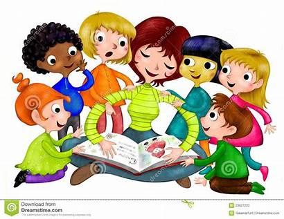 Nursery Scuola Clipart Materna Storyteller Kindergarten Bambini