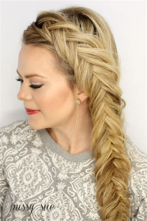 dutch fishtail side braid hair style tutorial full step