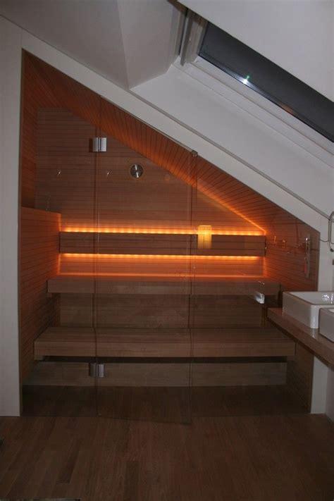 Sauna Dachschräge Grundriss by Sauna In Der Dachschr 228 Ge Grandl Sauna Und Innenausbau