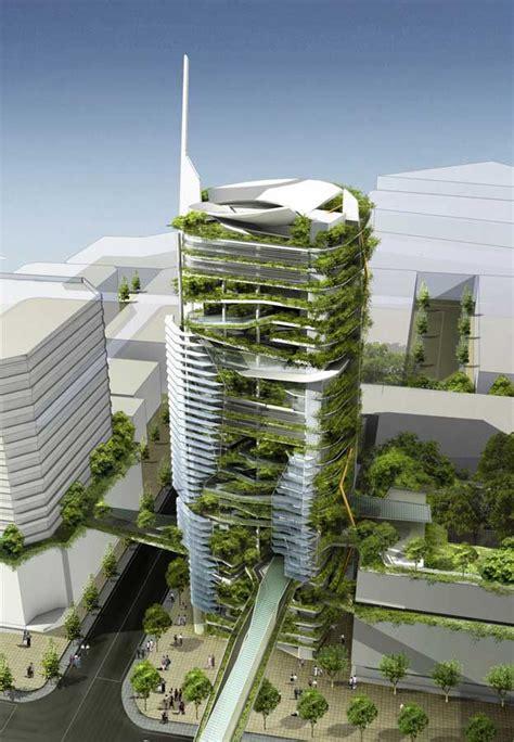 Editt Tower Singapore Ecological Design The Tropics