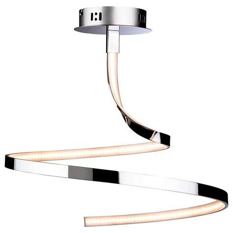 wave led semi flush ceiling light 3451ch