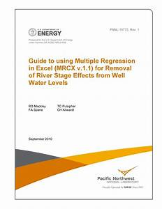 Guide To Using Multiple Regression In Excel  Mrcx V 1 1