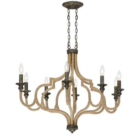 Oval Chandelier by Eurofase Corda Collection 8 Light Oval Bronze Chandelier