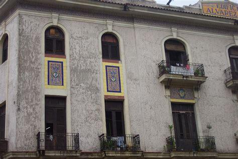 Balconies and mosaics in Havana