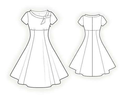 Template For Sewing by Flared Dress Sewing Pattern 4368 Made To Measure