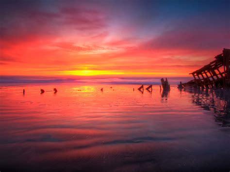 sunset hammond oregon united states  america landscape