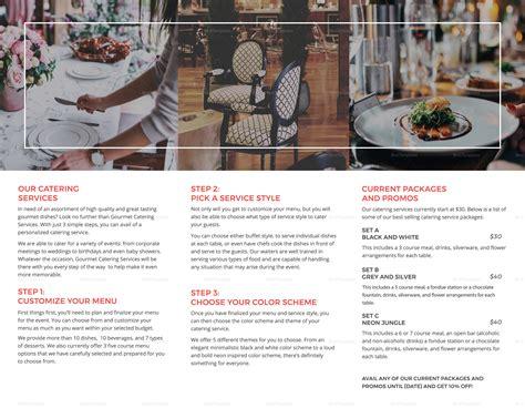 restaurant catering brochure template  psd word