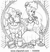 Sisters Coloring Outline Makeup Step Cinderella Evil Putting Clipart Pages Illustration Artist Fairy Rf Godmother Bannykh Alex Prince Royalty Template sketch template