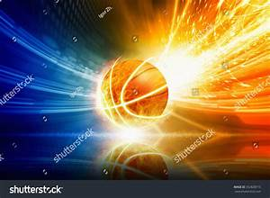 Abstract Sports Background - Burning Basketball With ...