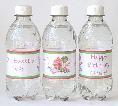 custom water bottle labels glorious treats