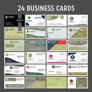24 business card pack vector free download With 24 business cards