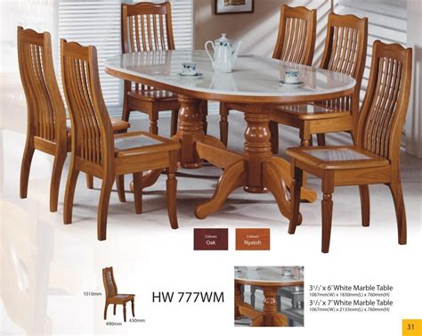 marble and wood dining table modern asian design solid wood dining table chairs with