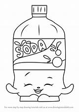 Soda Coloring Pages Bottle Drawing Template Colouring Shopkins Printable Pop Getcolorings Draw Getdrawings Sheet Sketch Step Coke Pepsi sketch template