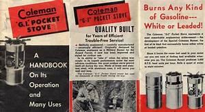 Coleman G I  Pocket Stove  Instruction Manual