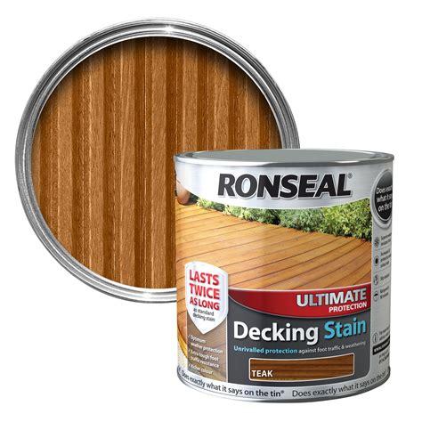 ronseal ultimate teak matt decking stain