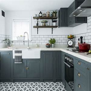 simple and pact l shaped kitchen design 2114