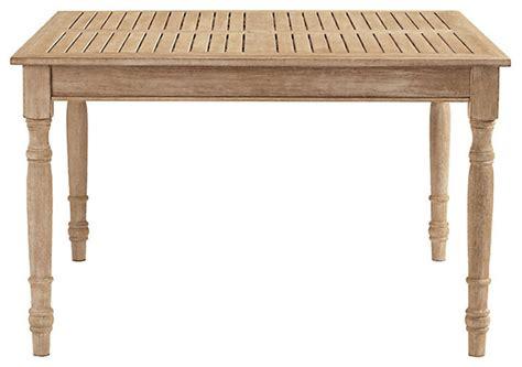 outdoor farmhouse dining table ceylon teak dining table square 48 inch farmhouse