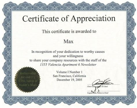 certificate  authenticity awards certificates template