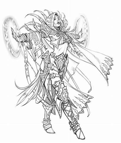 Fantasy Coloring Eva Pages Widermann Concept Warcraft
