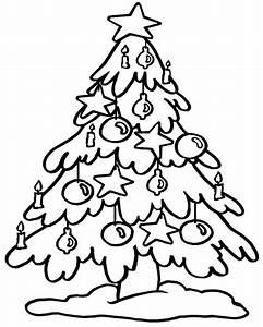 Disegno Di Albero Di Natale AZ Colorare