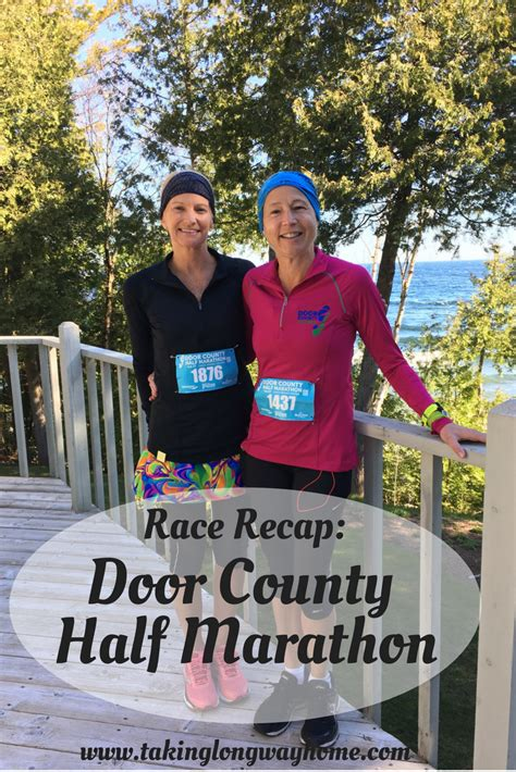door county cing taking the way home race recap door county half