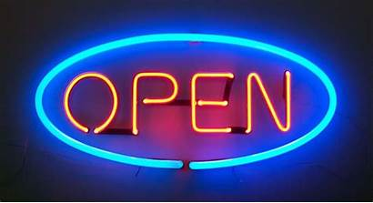 Neon Lights Signs Lighting Advertising Surface Wallpapers