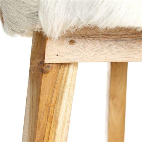 sgabello pelle sgabello legno naturale e pelle mobili etnici coloniale