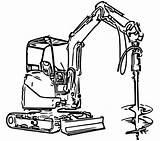 Coloring Excavator Construction Printable Boyama Equipment Digger Colouring Kitapları Drawing ücretsiz Barbie Sheets çizimler Kuvvetler Prensesi özel Disney Ford Toddler sketch template