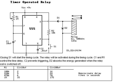 Timer Operated Relay Application