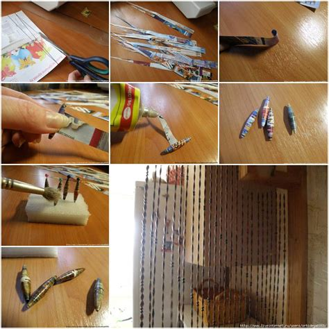 how to make newspaper curtain step by step diy