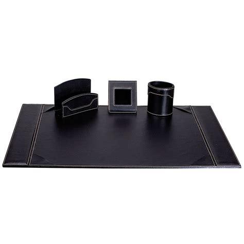 parure de bureau en cuir carpentras parure de bureau elyane simili cuir noir sous