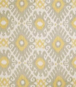 Home Decor Print Fabric- Jaclyn Smith Ikat Rot Dove Gray