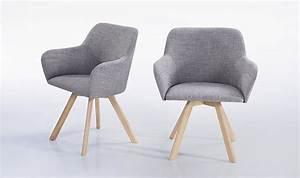Fauteuil Scandinave Tissu : lot de 2 fauteuils scandinave tissu gris clair pieds en bois massif ~ Teatrodelosmanantiales.com Idées de Décoration