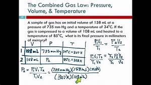 11 6 The Combined Gas Law  Pressure  Volume   U0026 Temperature