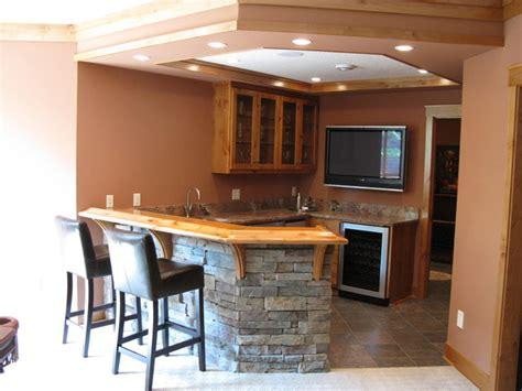 simple contemporary home bar