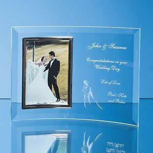 cadre photo mariage grave personalised engraved glass 6x4 photo frame engagement