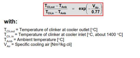 kilncooler calculation formulas infinity  cement